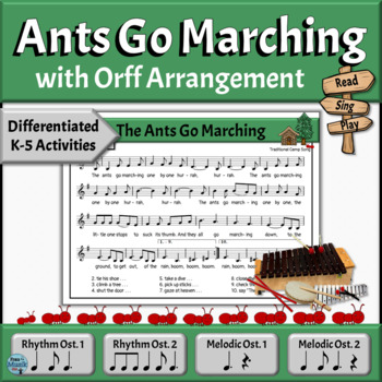 Camp Song with Orff Arrangement | The Ants Go Marching
