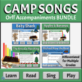 Camp Songs Music Literacy BUNDLE   Differentiated Orff Arr