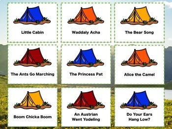 Camp Songs for the Classroom {A Bundle of PDFs, Games and More! 2016}