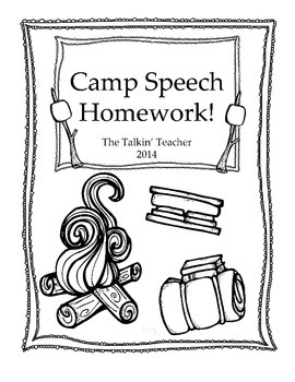 Camp Speech Homework Packet!