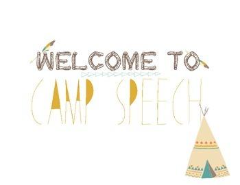 Camp Speech Welcome Sign