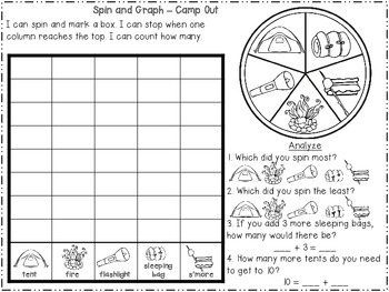 Camp Spin and Graph {Freebie}