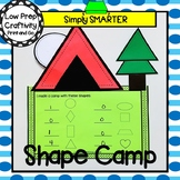 Camp Tent Themed Cut and Paste Shape Math Craftivity