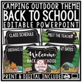 Camping Theme Back to School Night Stations, Open House Po