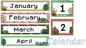 Camp Theme Calendar