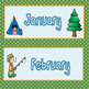 Camp Theme Calendar pieces