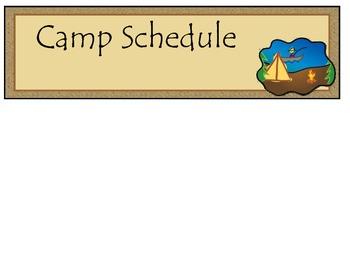 Camp Theme Class Schedule