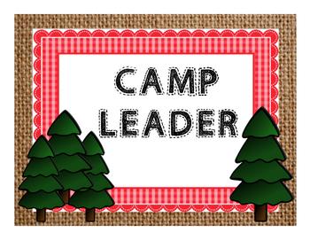 Camp Theme Clip chart