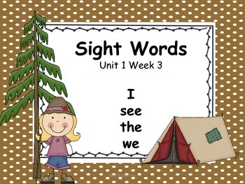 Camp Theme Kindergarten Focus Wall - Wonders