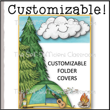Camp Theme Meet the Teacher Letter & Notebook or Folder Cover (Editable)