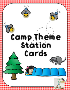 Camp Theme Station Cards