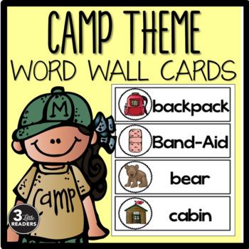 Camp Theme Word Wall Cards {FREEBIE}