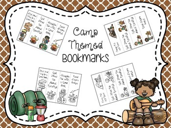 Camp Themed Bookmarks