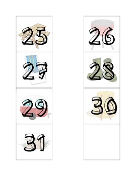 Camp Themed Calendar Dates