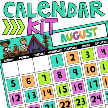 Camp Themed Calendar Kit