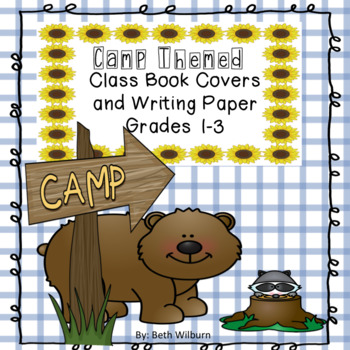 Camp Themed Class Book Covers and Writing Paper