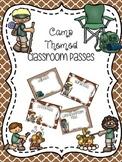 EDITABLE Camp Themed Classroom Passes