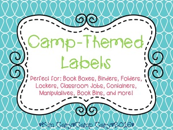 Camp-Themed Labels