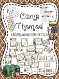 Camp Themed Library Media Center Pack {with EDITABLE passe