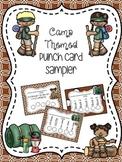 Camp Themed Punch Card Sampler