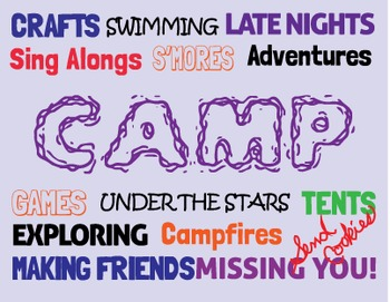 Camp Typography Note Card