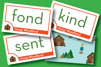 Camp Woodland Ending Blends Phonics Game