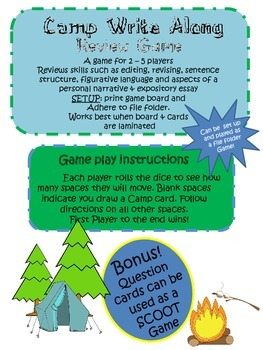 Camp Write-Along: A 4th grade Writing STAAR Review Game