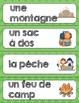 Camp numeracy and literacy activities French/ Activités au Camp du Sapin vert