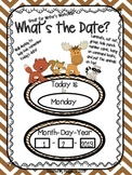 "Camp or Forest Theme ""What's the Date?"" Writer's Workshop Signs"