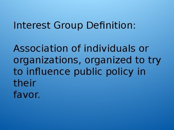 Interest Groups and Campaign Finance PowerPoint