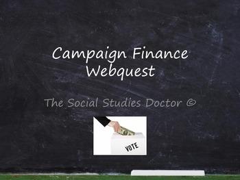 Campaign Finance Webquest
