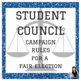 Campaign Rules for Student Council