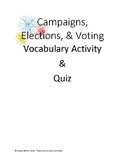 Campaigns, Elections, and Voting Vocabulary Activity