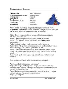 Present Perfect Subjunctive Reading Summer Camp - Presente perfecto subjuntivo