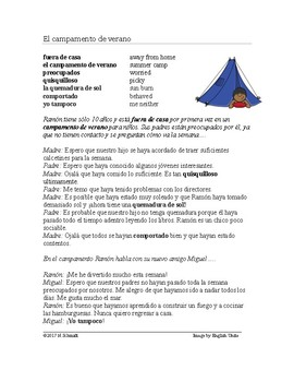 Spanish Present Perfect Subjunctive Reading Summer Camp: Perfecto del Subjuntivo