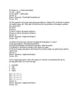 Campbell Bio, 11e (Urry) Ch. 38 Angiosperm Reproduction and Biotechnology