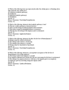Campbell Bio, 11e (Urry) Chapter 8 An Introduction to Metabolism