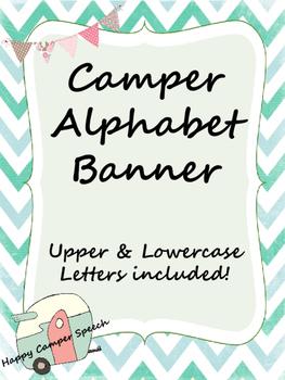 Camper Alphabet Banner
