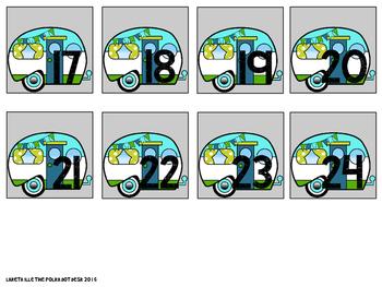 Camper Love Calendar Number Cards