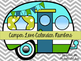 Camper Love Calendar Number Cards