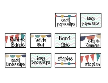 Camper Theme Teacher Toolbox labels