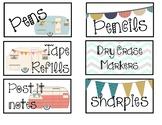 Camper Theme Teacher Toolbox labels