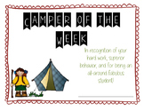 Camper of the Week Certificate