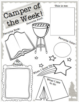 Camper of the Week Poster