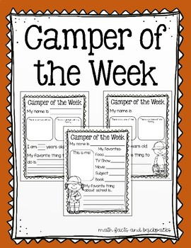 Camper of the Week (Star Student of the Week)
