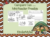 Campers Can...Mini Reader {Freebie}
