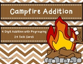 4 Digit Addtion with Regrouping {Campfire Theme}