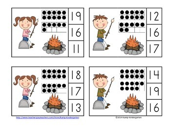 Campfire Kids Rock! Count and Clip Cards (Quantities to 20)