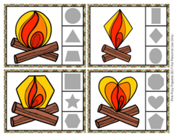 Campfire Shapes Clip Cards