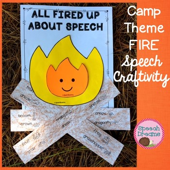 Campfire Speech Craftivity {language & articulation craft} fall camp theme